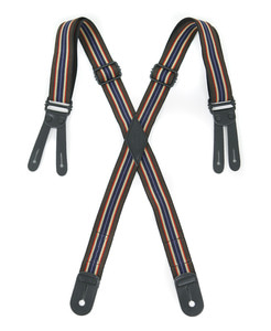 OUTSTANDING BUTTON TAB STRIPE SUSPENDER[STRIPE-2]
