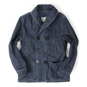 US NAVAL DENIM PEA COAT[INDIGO]