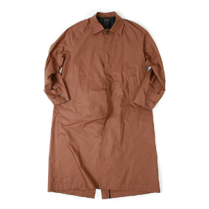 ZIPPER POINT LONG COAT [BROWN]