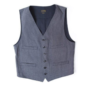 30s MOLE CLOTH VEST[NAVY] 아웃스탠딩 컴퍼니30s MOLE CLOTH VEST[NAVY]