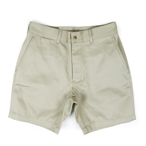 MILITARY OFFICER CHINO SHORT PANTS[BEIGE]