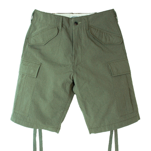 M47 RIP CARGO SHORT PANTS [OLIVE GREEN] 아웃스탠딩 컴퍼니M47 RIP CARGO SHORT PANTS [OLIVE GREEN]