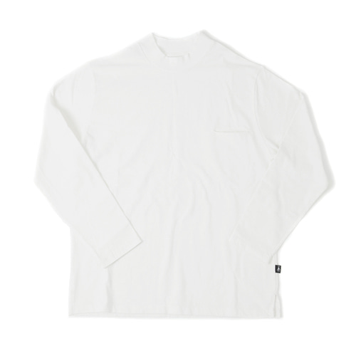 MOCKNECK POCKET LONG SLEEVE[OFF WHITE]