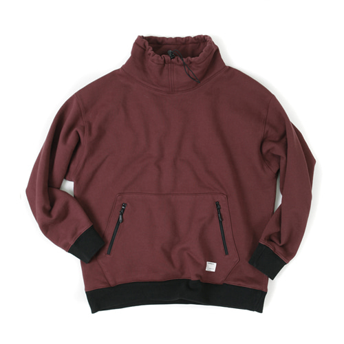 TURTLE NECK SWEATSHIRT [WINE]
