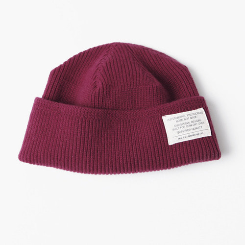 MERINO WOOL WATCH CAP[WINE] 아웃스탠딩 컴퍼니MERINO WOOL WATCH CAP[WINE]