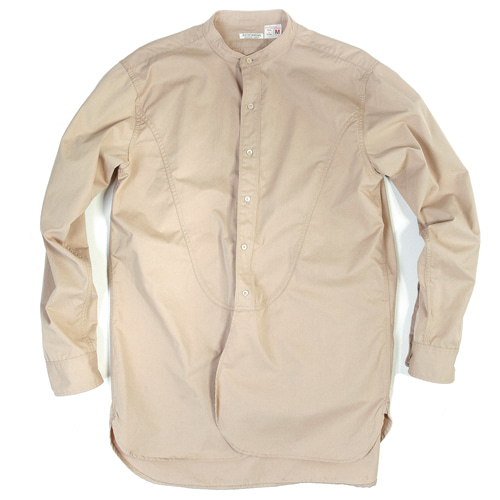 BAND COLLAR LONG SHIRTS[BEIGE] 아웃스탠딩 컴퍼니BAND COLLAR LONG SHIRTS[BEIGE]