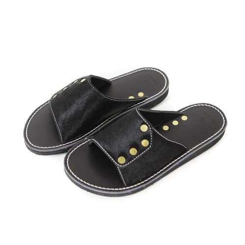 SRS Lot.2211 Slide Rivet Sandal[BLACK]FERKER x OUTSTANDING&CO
