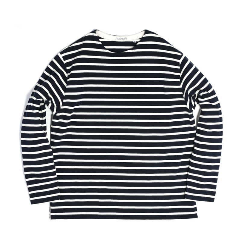 BOATNECK LONG SLEEVE [NAVY/IVORY]