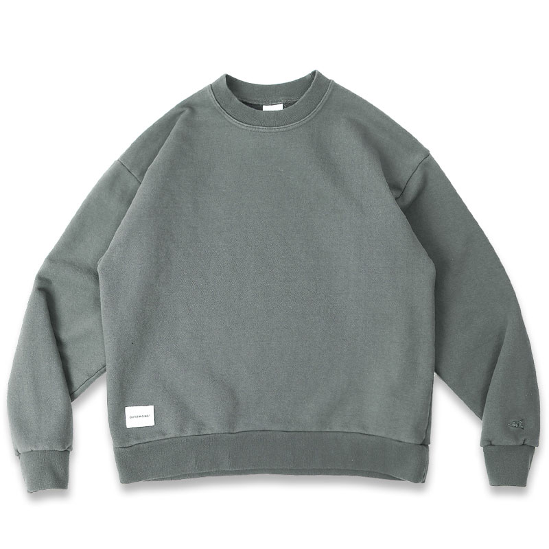 BLANK SWEAT SHIRT [CHARCOAL]