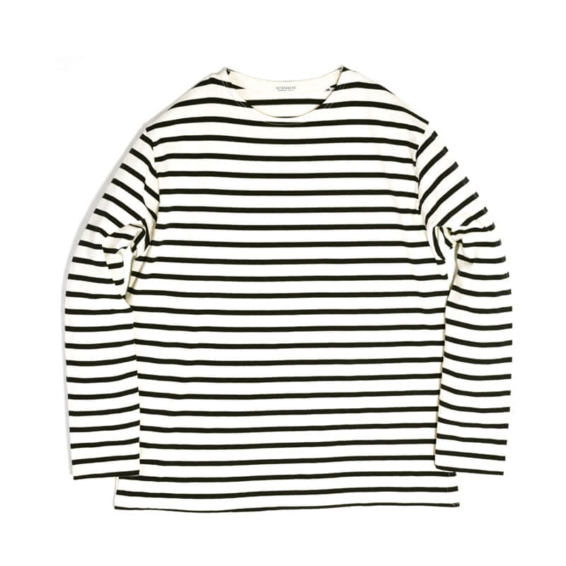 BOATNECK LONG SLEEVE [IVORY/NAVY]