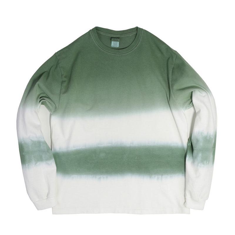 STRIPE TIE-DYE LONG SLEEVE [GREEN]