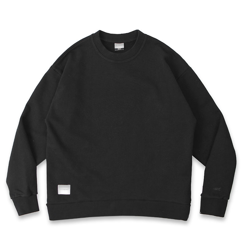 BLANK SWEAT SHIRT [BLACK]