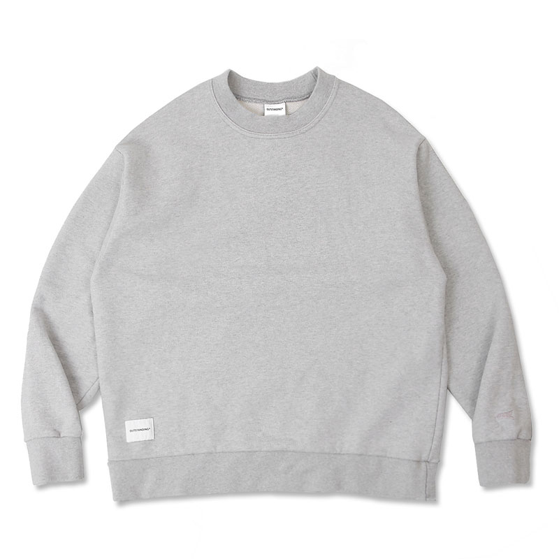 BLANK SWEAT SHIRT [3% MELANGE GRAY]