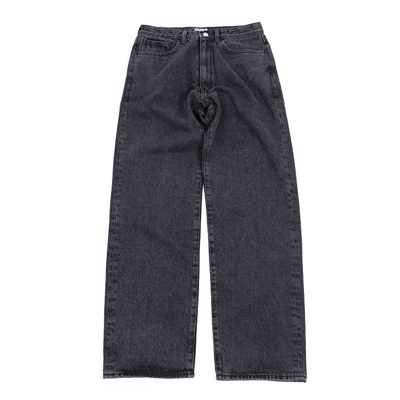 WIDE WASHING DENIM [BLACK]