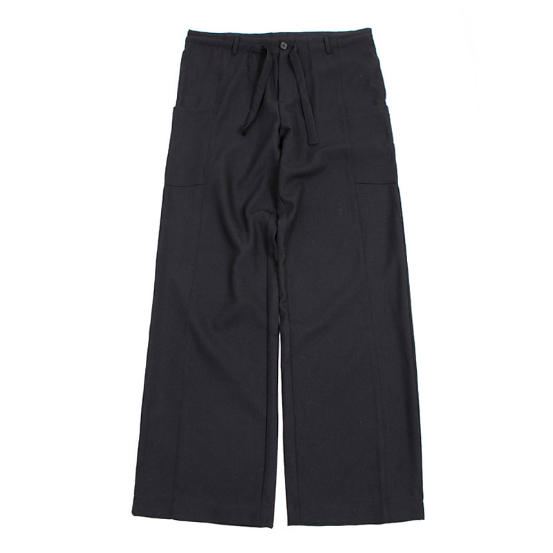 WOOL WIDE PANTS [BLACK]