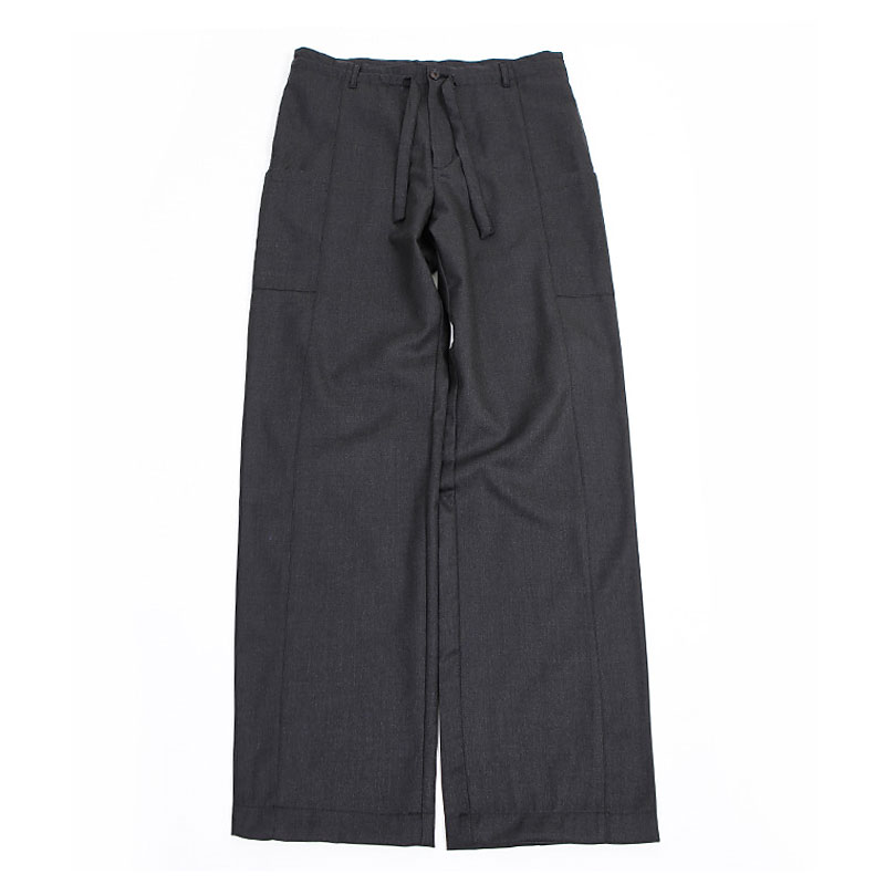 WOOL WIDE PANTS [CHARCOAL]