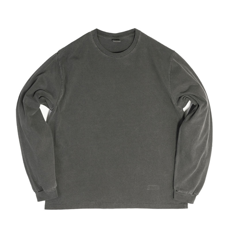 PIGMENT LONG SLEEVE [CHARCOAL]