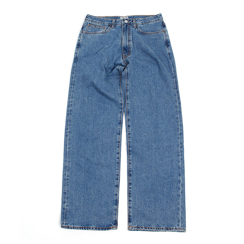 WIDE WASHING DENIM [INDIGO]