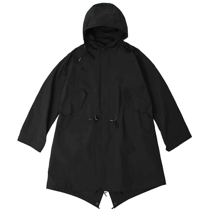 20S/S HOODED NYLON PARKA [BLACK]