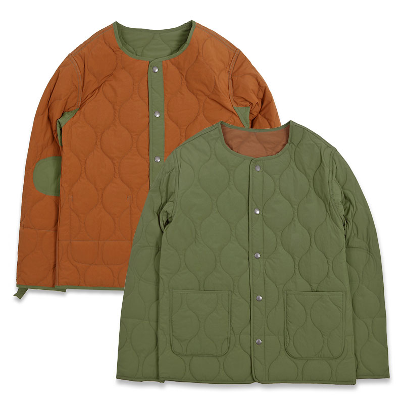 REVERSIBLE QUILTING JACKET [KHAKI/BROWN]