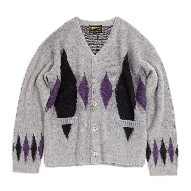 19FW MOHAIR CARDIGAN-DIAMOND [GRAY]
