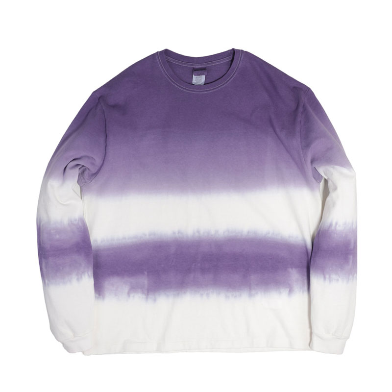 STRIPE TIE-DYE LONG SLEEVE [PURPLE]
