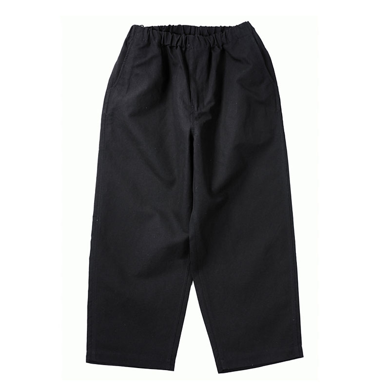 LINEN EASY PANTS [BLACK]