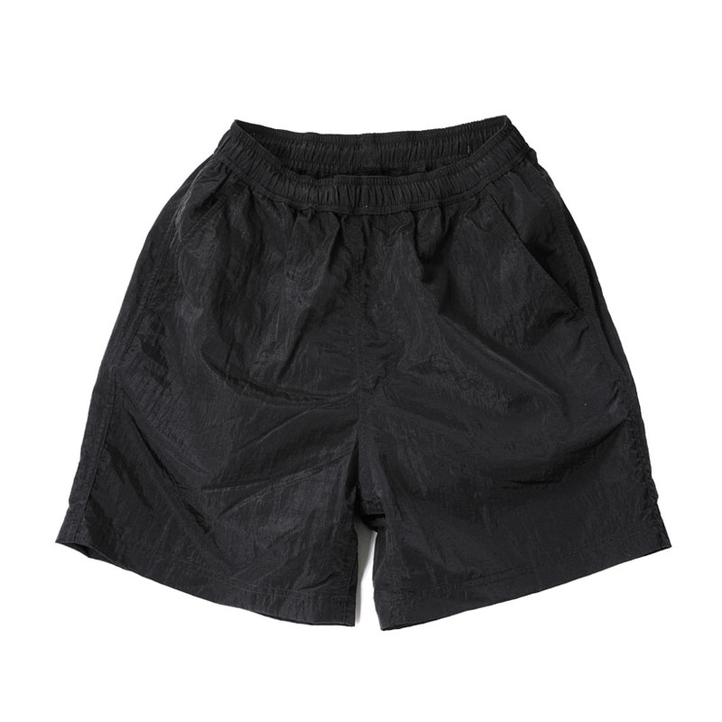 NYLON METAL SHORT PANTS [BLACK]
