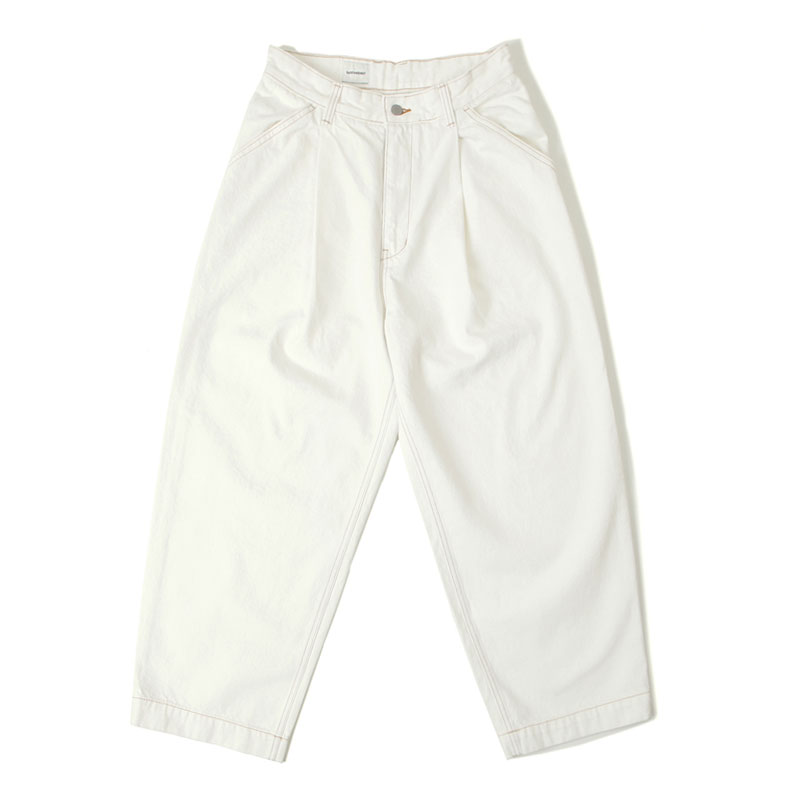 WIDE COTTON PANTS[IVORY]