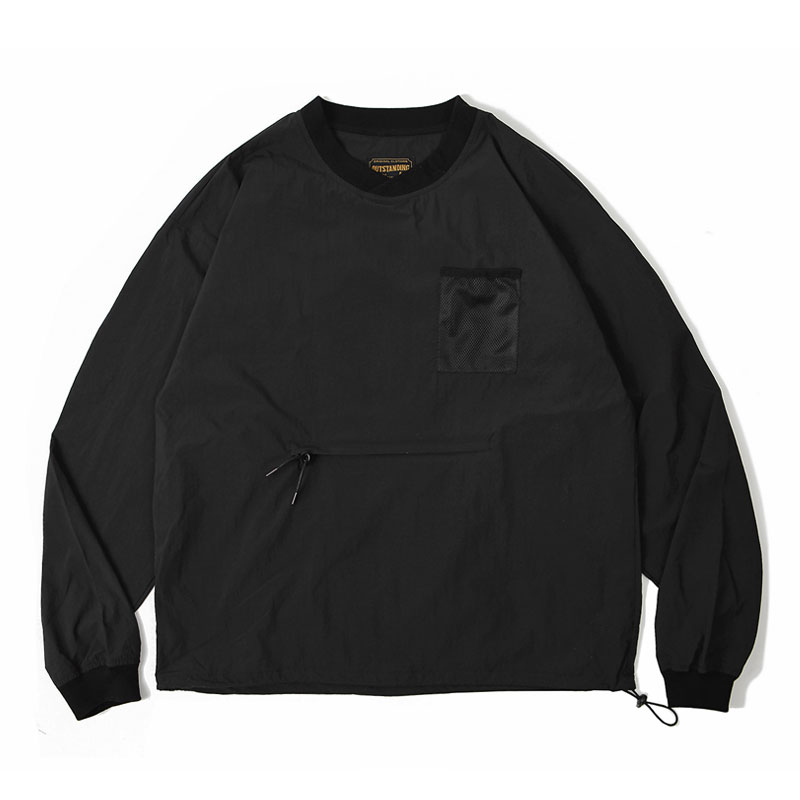 PULLOVER POCKET SHIRT [BLACK]
