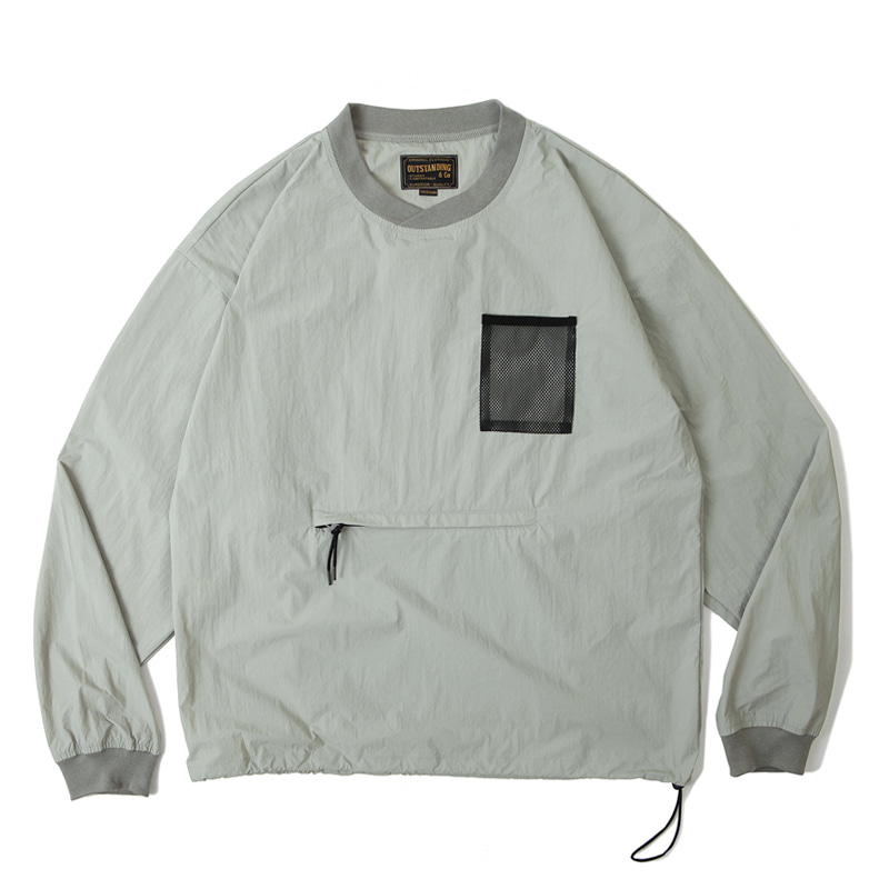 PULLOVER POCKET SHIRT [GRAY]