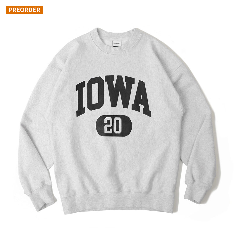 V.S.C SWEAT(IOWA)_1% MELANGE GRAY