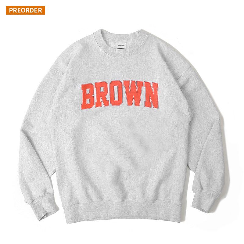 V.S.C SWEAT(BROWN)_1% MELANGE GRAY