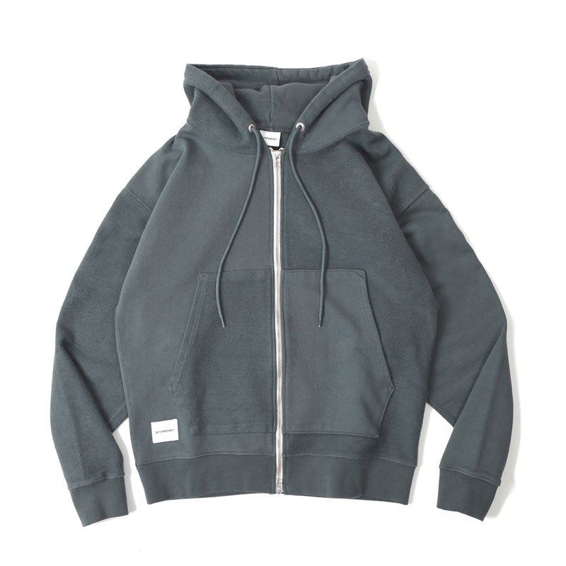ZIP UP HOODIE PARKA [CHARCOAL]