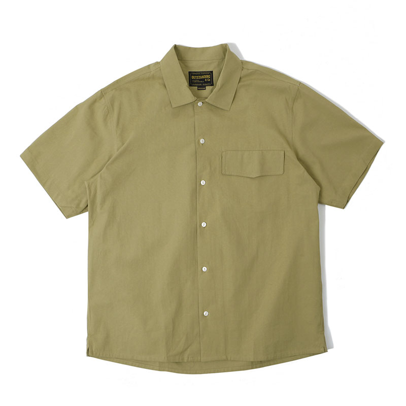 POCKET OPEN SHIRT_BEIGE
