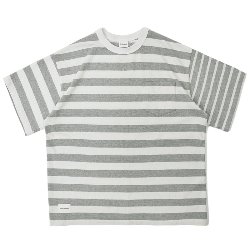 MIX BORDER TEE_2.5 GRAY
