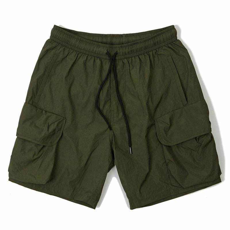 NYLON CARGO PANTS_OLIVE GREEN