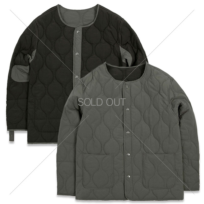 REVERSIBLE QUILTING JACKET [CHARCOAL/BLACK] 아웃스탠딩 컴퍼니REVERSIBLE QUILTING JACKET [CHARCOAL/BLACK]