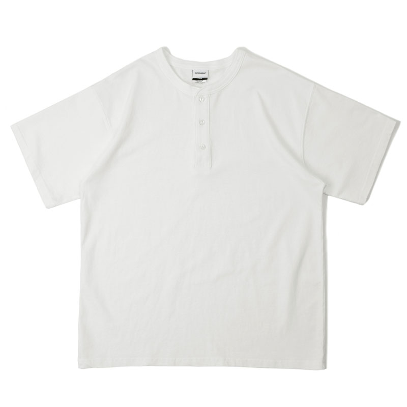 HENLEYNECK SHORT SLEEVE_OFF WHITE