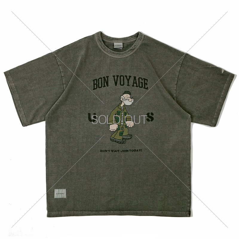 V.O.C TEE(vintage washing_BON VOYAGE)_CHARCOAL[LIMITED EDITION]