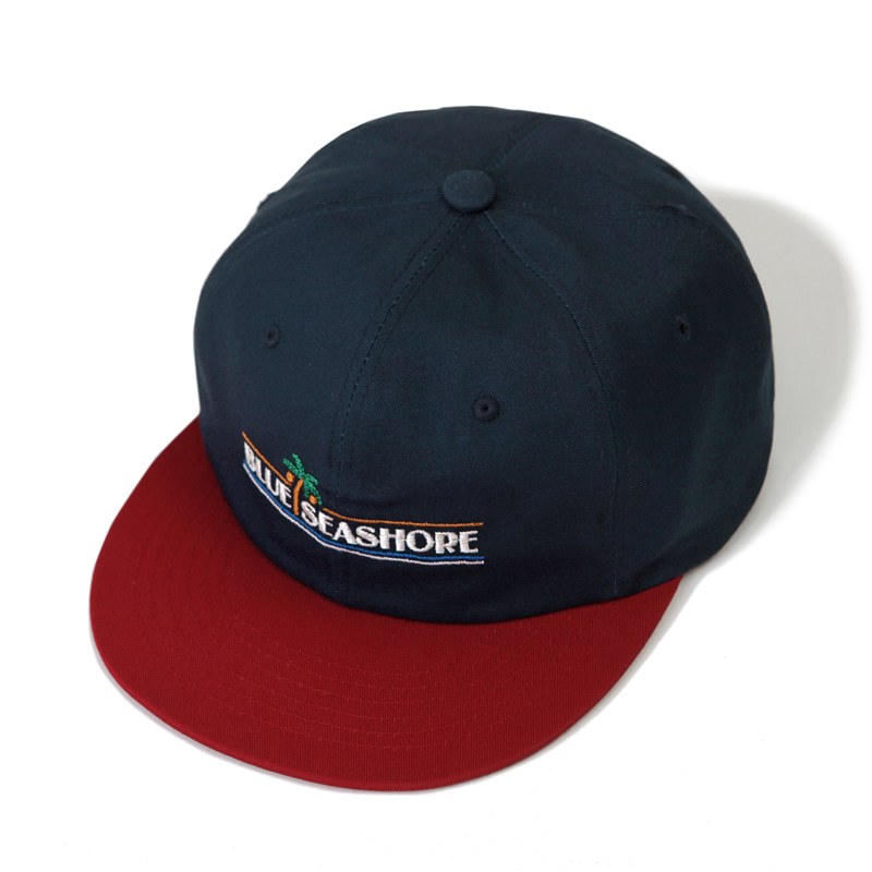 VINTAGE TRUCKER CAP_NAVY_RED