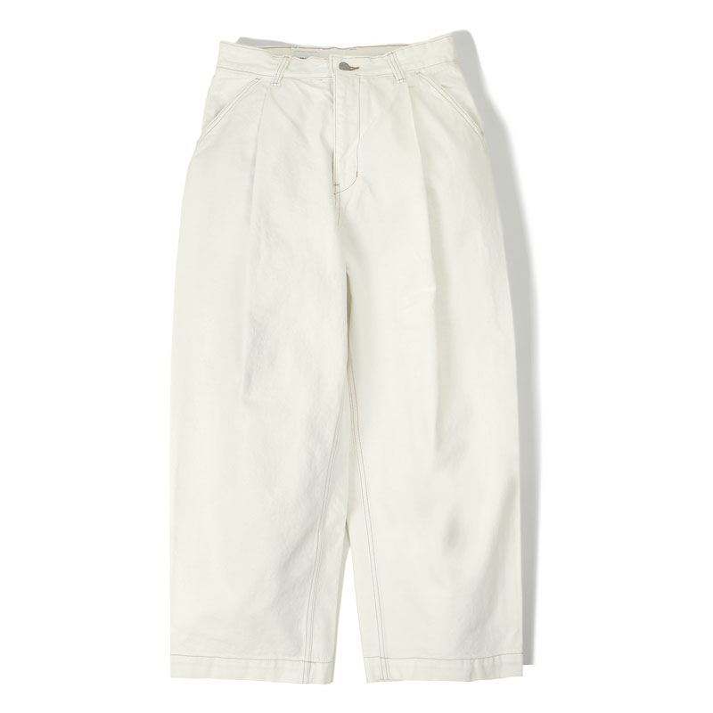 WIDE COTTON PANTS[OFF WHITE]