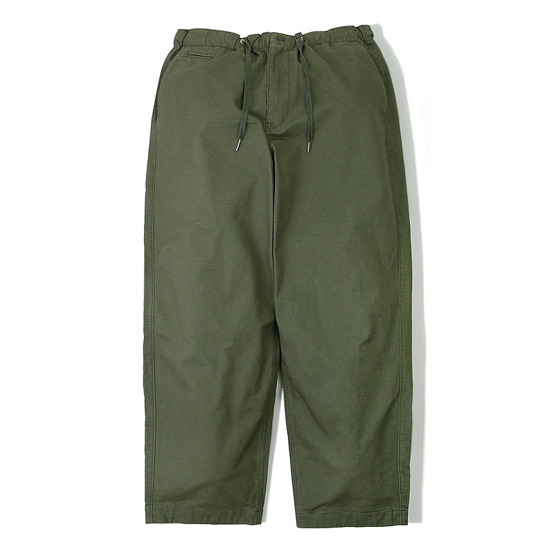 COTTON STRING PANTS_OLIVE GREEN