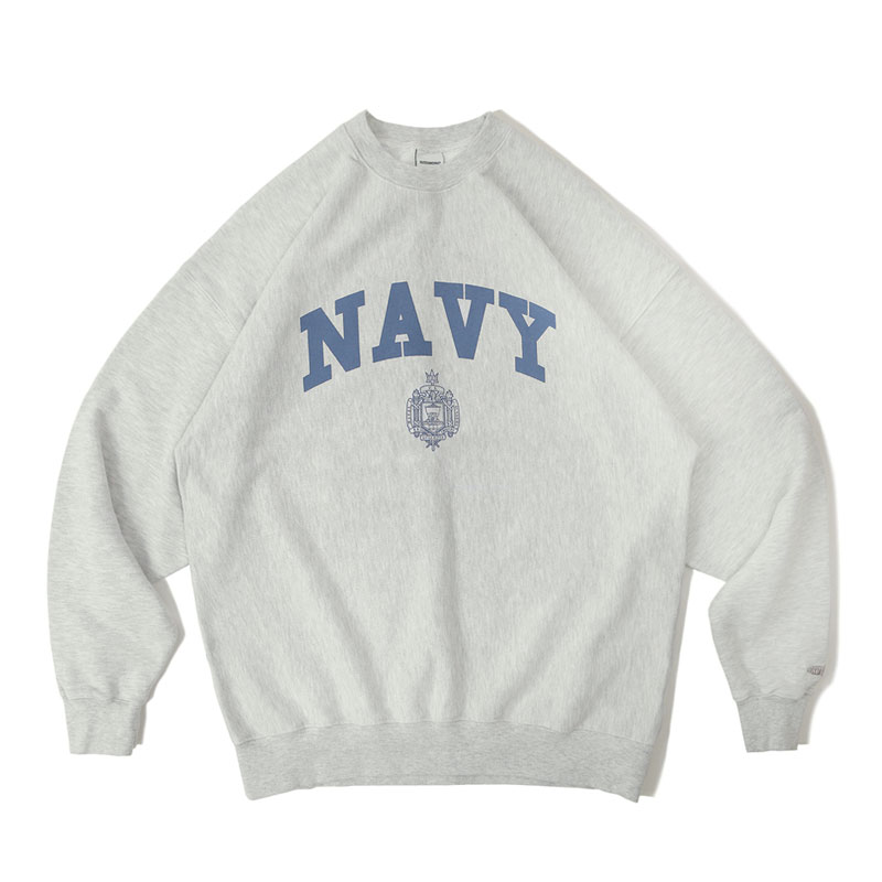 V.S.C SWEAT_NAVY_1% MELANGE GRAY