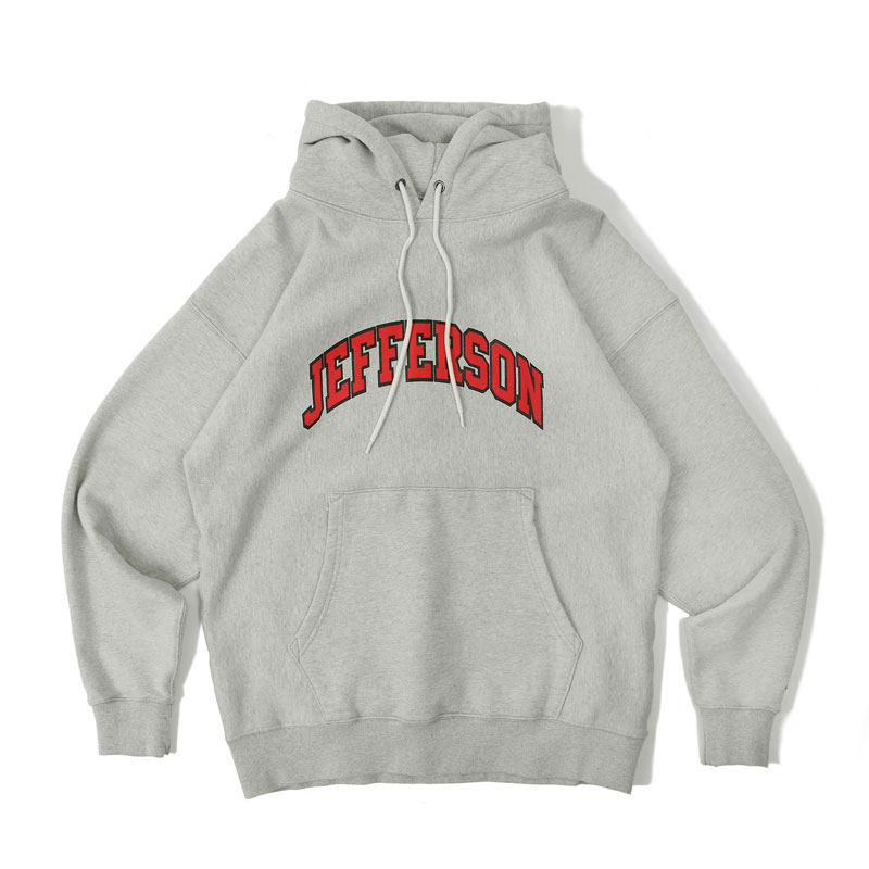 V.S.C HOOD SWEAT_JEFFERSON_3% MELANGE GRAY