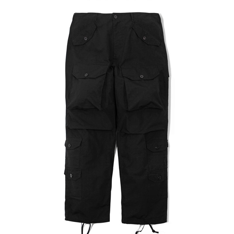 MIL RIP COTTON PANTS_BLACK 아웃스탠딩 컴퍼니MIL RIP COTTON PANTS_BLACK