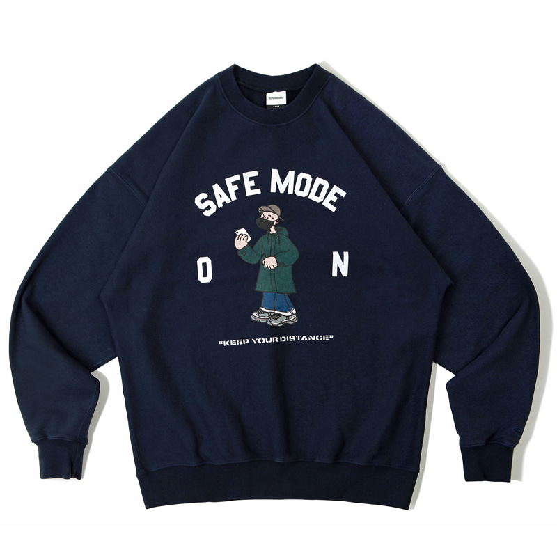 V.S.C SWEAT_SAFE MODE_NAVY 아웃스탠딩 컴퍼니V.S.C SWEAT_SAFE MODE_NAVY