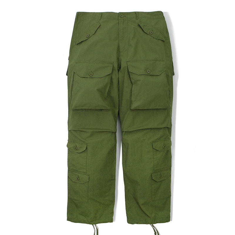 MIL RIP COTTON PANTS_OLIVE GREEN