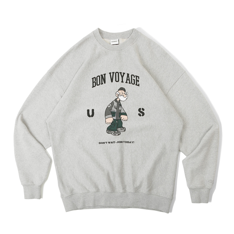 V.S.C SWEAT_BON BOYAGE_3% MELANGE GRAY 아웃스탠딩 컴퍼니V.S.C SWEAT_BON BOYAGE_3% MELANGE GRAY