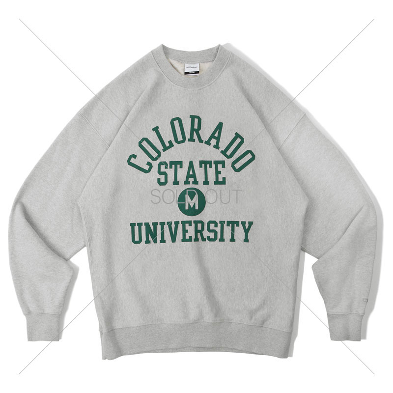 V.S.C SWEAT_COLORADO_3%MELANGE GRAY 아웃스탠딩 컴퍼니V.S.C SWEAT_COLORADO_3%MELANGE GRAY